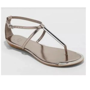 A New Day Archer Pewter Thong Sandal